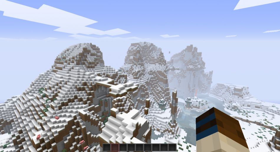 Dramatic Snowy Mountains Minecraft Seeds