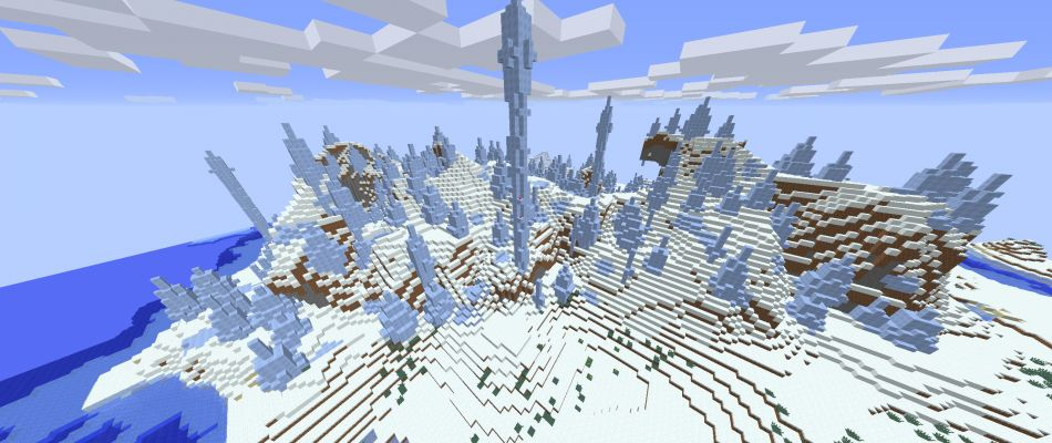 Minecraft Seed Ice Spikes At Spawn 2