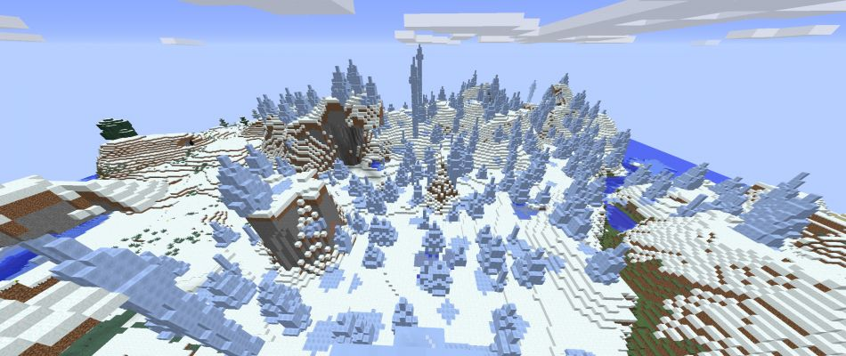 Minecraft Seed Ice Spikes At Spawn 3