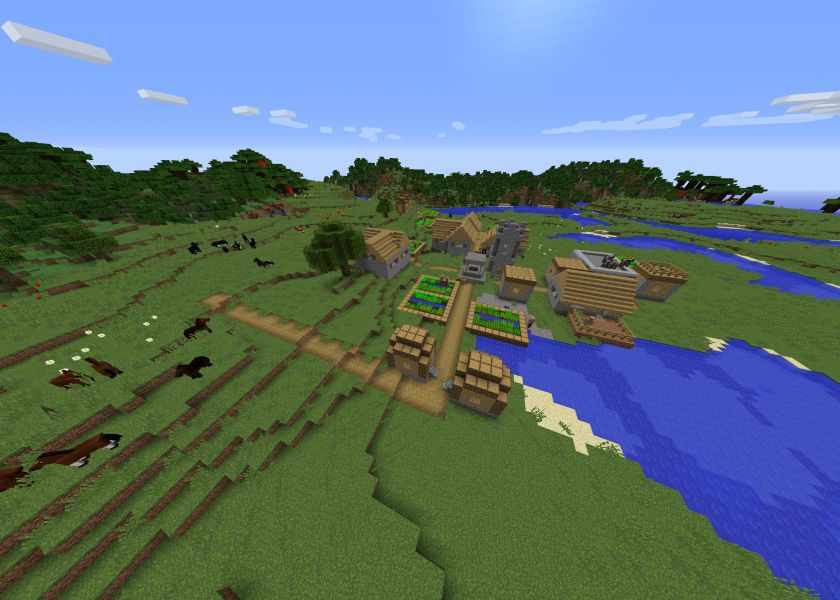 Beautiful Village In A Beautiful Place Spawn.