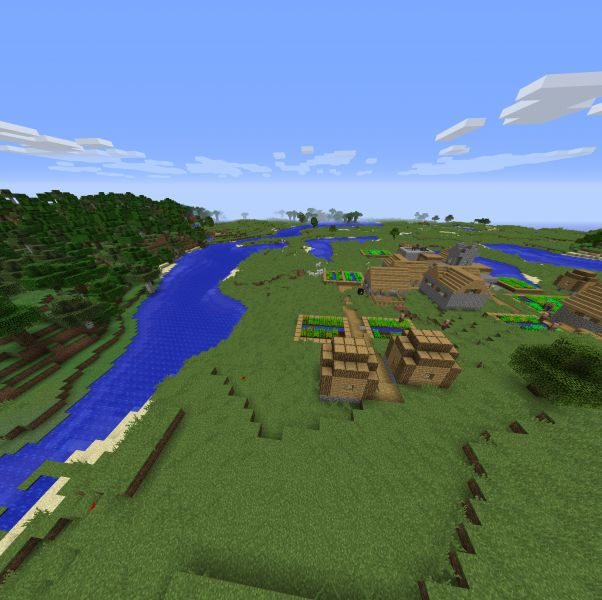 Minecraft Seed Beautiful Village In A Beautiful Place Spawn. 2