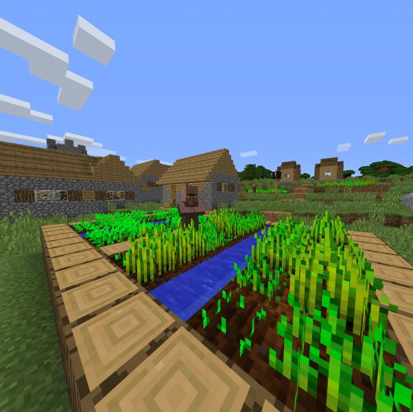 Minecraft Seed Beautiful Village In A Beautiful Place Spawn. 3