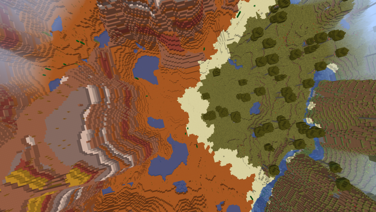 Minecraft Seed Mesa with dungeon 3
