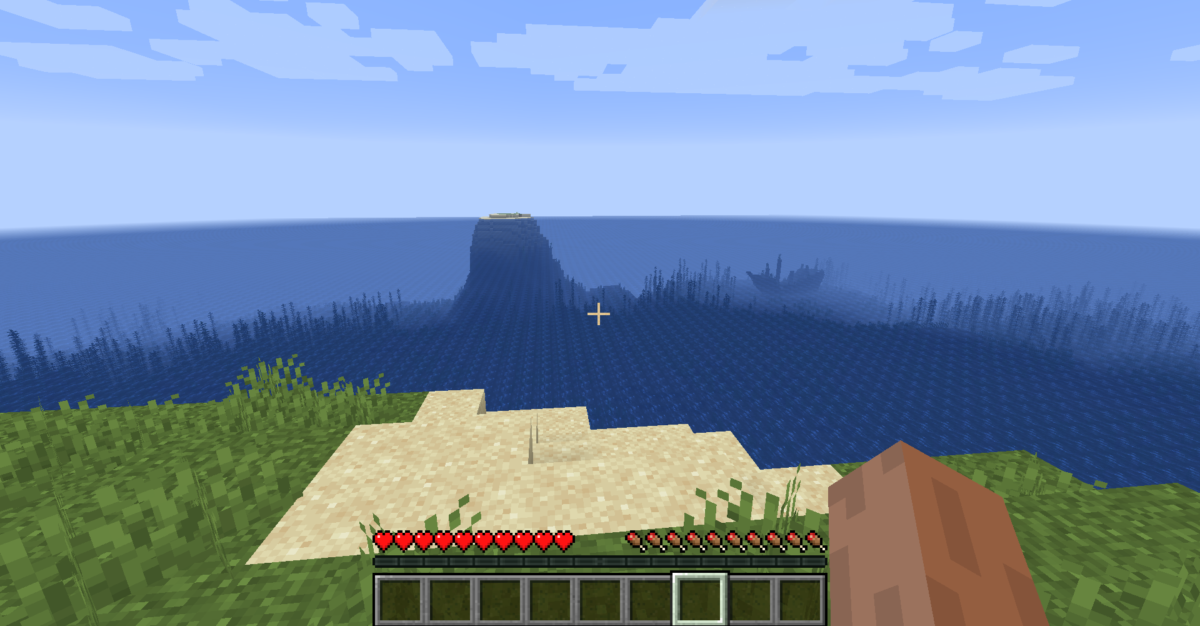 spawn in middle of deep sea MC java 1.14.1