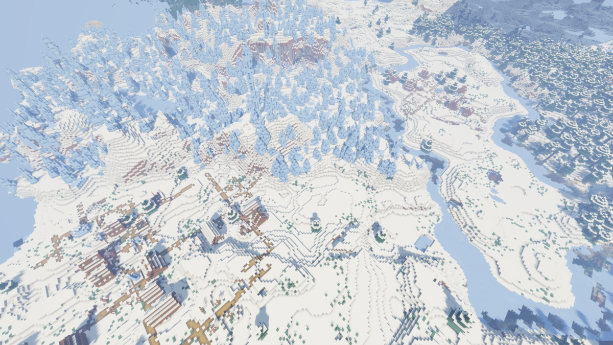 1.14.3 – Ice Spikes with Two Villages and Pillager Outpost