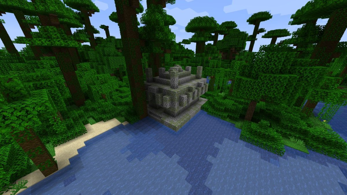 Jungle Temple at Spawn in Bamboo Forest