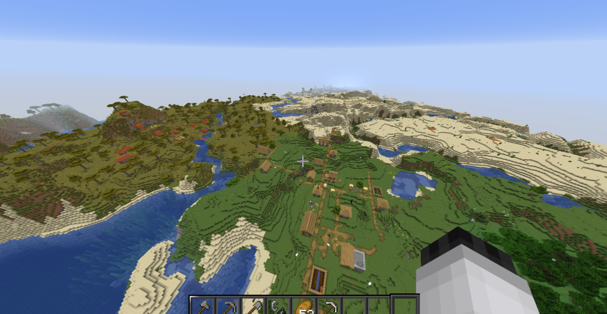 2 Villages with almost full iron and good nether spawn :)